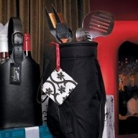 5 Piece BBQ Tool Set in Black Golf Bag