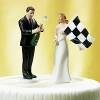 Victorious Groom & Finish Line Bride Mix and Match Toppers