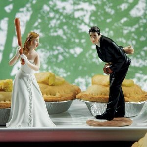 Baseball Wedding Cake Toppers (Mix and Match) image