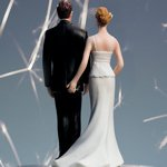 The Love Pinch Funny Wedding Couple Cake Topper