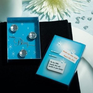 Gift Boxed 'Fridge Bling' Magnet Wedding Favors image