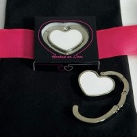 Heart-Shaped 'Hooked on Love' Purse Hook Favors