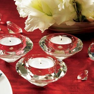 Diamond Shaped Tealight Holders (Set of 6) image
