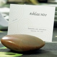 Natural Polished Stones with Card Slot (Set of 8)