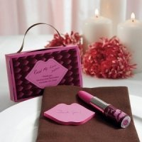 Gift Boxed Lipstick Pen and Sticky Notes Favor