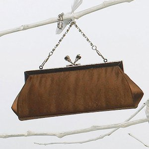 Satin Kiss Clasp Evening Bag image