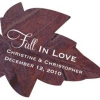 Fall In Love Leaf-Shaped Sticker