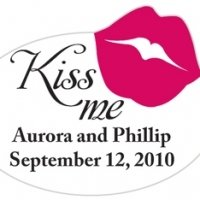 Kiss Me Personalized Favor Sticker
