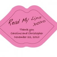 Read My Lips Personalized Sticker Labels