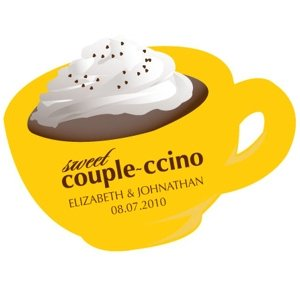 Couple-ccino Cup Shaped Stickers (Many Colors) image