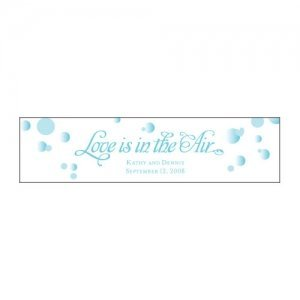 Personalized 'Love is in the Air' Bubble Sticker (16 colors) image
