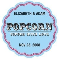 Personalized Popcorn - Topped with Love Stickers