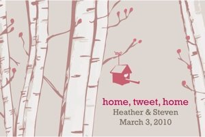 Home Tweet Home Favor Cards (Set of 12) image