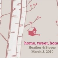 Home Tweet Home Favor Cards (Set of 12)