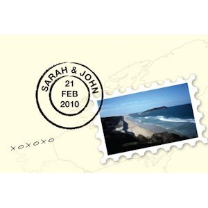 Postcard with Stamp Favor Card (Set of 12) image