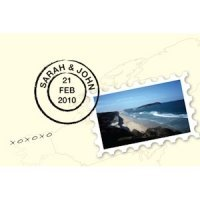 Postcard with Stamp Favor Card (Set of 12)