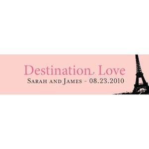 Destination Love-Personalized Eiffel Tower Card (Set of 24) image