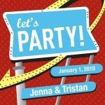 Personalized Let's Party Cards (Set of 20)