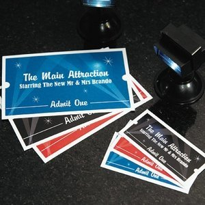 Personalized Drink Tickets for Weddings (Hollywood Themed) image