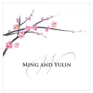Square Cherry Blossom Wedding Favor Tag (20) image