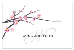 Cherry Blossom Large Rectangular Tag (Set of 12) image