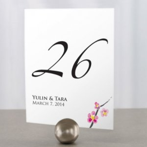 Personalized Cherry Blossom Table Number Cards image