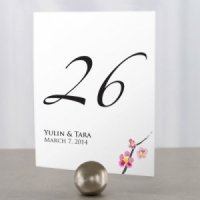 Personalized Cherry Blossom Table Number Cards