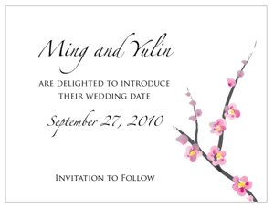 Cherry Blossom Save the Date Cards (Set of 8) image
