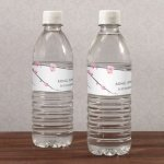 Cherry Blossom Labels for Water Bottles (10 Pack)