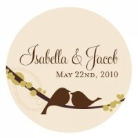Personalized Love Birds Sticker (4 Colors)