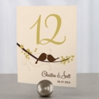Love Birds Personalized Wedding Table Numbers