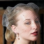 Bird Cage Style Veil - White or Ivory (Crystals Option)