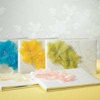 Splash of Color Guest Books for Weddings (5 Colors)