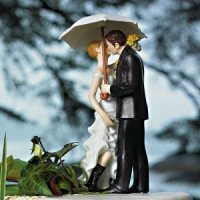 Showered with Love Couple Cake Topper