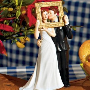 Picture Perfect Couple Cake Topper (3 Skin Tones) image