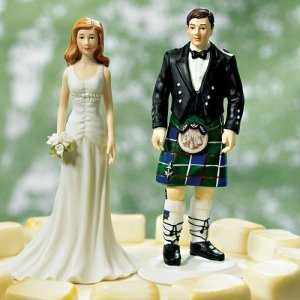 Groom in Kilt Mix and Match Cake Topper image