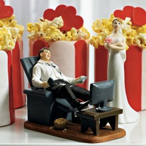 Couch Potato Groom Funny Wedding Topper (Mix and Match) image