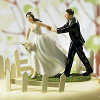 Race to the Altar Couple Cake Topper