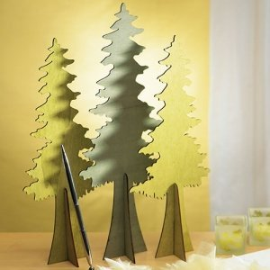 Wooden Die Cut Evergreen Trees (Set of 2) image