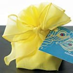 Organza Drawstring Bag with Decorative Bow (Set of 12)