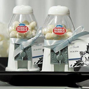 Classic Mini White Gumball Machine Favors image