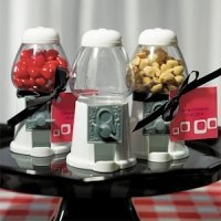 White Gumball Machine Favors