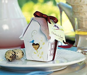 Bird House Favor Box - Set of 12 image