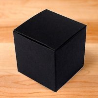 Black 2 Inch Cube Favor Boxes - Set of 10