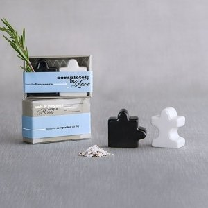 Puzzle Piece Design Salt and Pepper Shakers image