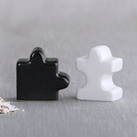 Puzzle Piece Design Salt and Pepper Shakers