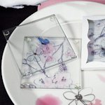 Artistic Botanical Butterfly Coaster Party Favors