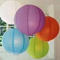 Round Paper Lanterns (3 Sizes - 21 Colors)