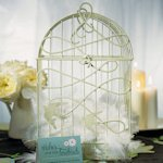 Decorative 'Birds in Flight' Birdcage for Wedding Cards