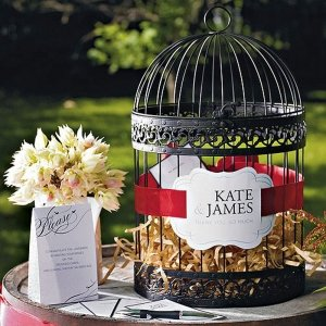 Decorative Birdcage Wedding Card Holder or Wishing Well image